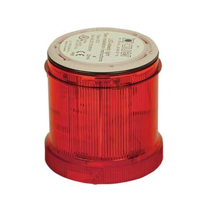 110-120VAC FLASHING RED LIGHT LED 2Hz 70mm