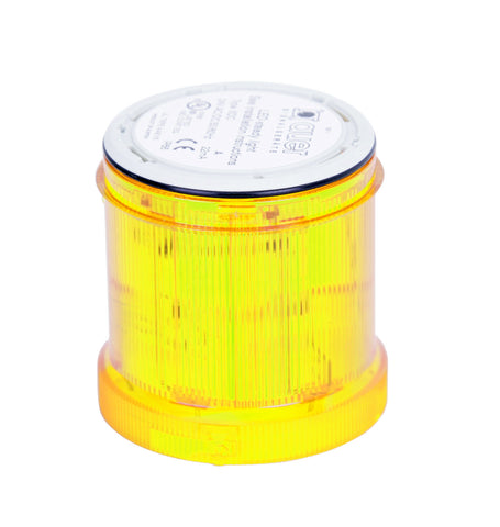 110-120VAC FLASHING YELLOW LIGHT LED 2Hz 70mm