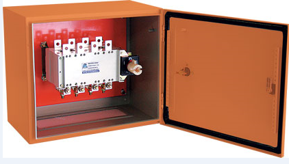 630A 4-POLE 25kA ENCLOSED C/O SWITCH, ORANGE IP54