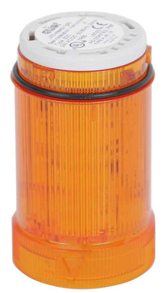 110-120VAC FLASHING AMBER LIGHT LED 2Hz 40mm