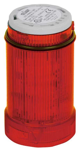110-120VAC FLASHING RED LIGHT LED 2Hz 40mm