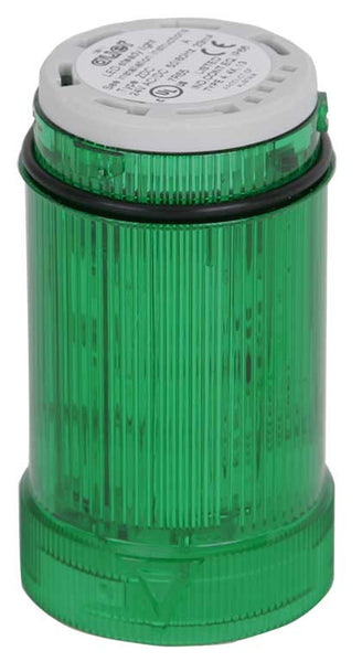 230-240VAC MULTI STROBE GREEN LIGHT LED 1-2.6Hz 40mm