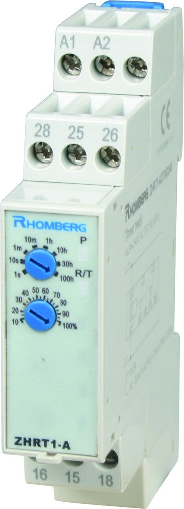 24-240VAC/DC DELAY-ON TIMER 0.1S-100HR 1 C/O + INST