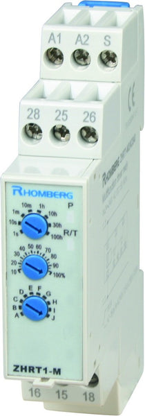 12VDC MULTI-FUNCTION TIMER 0.1S-100HR 1 C/O + INST