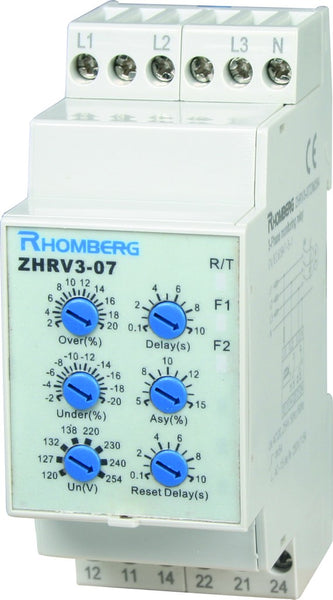 208-440VAC 3PH SYMMETERY /OVER + UNDER VOLTAGE MONITOR