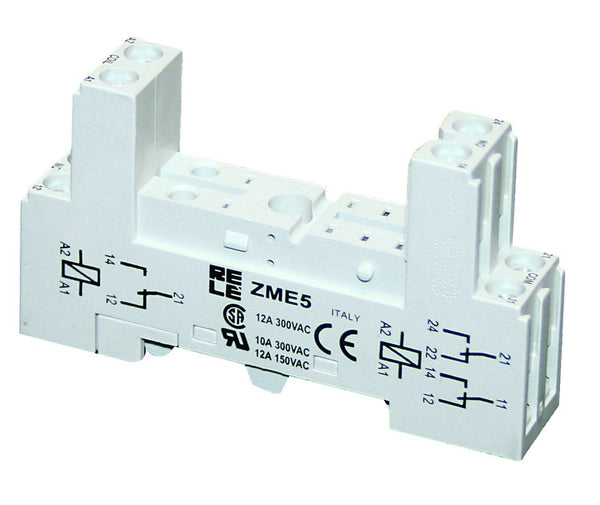 BASE FOR E RELAYS IP20 PIN SPACING 5mm