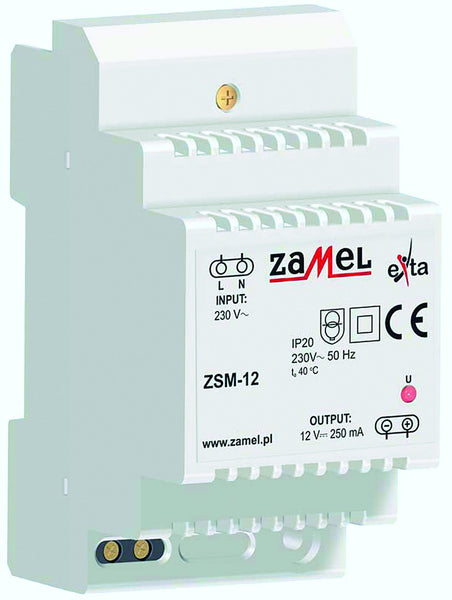 230VAC/12VDC 250mA POWER SUPPLY IP20