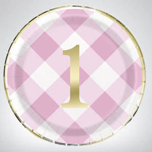 Pink Gingham 1st Birthday