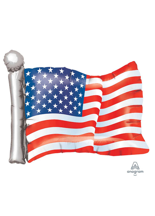 American Flag SuperShape Foil Balloon