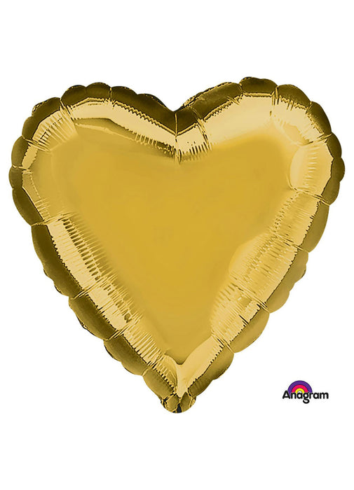 Gold Heart Foil Balloon
