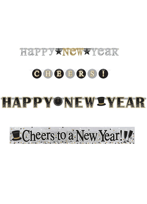 New Years Banner Set 4pk