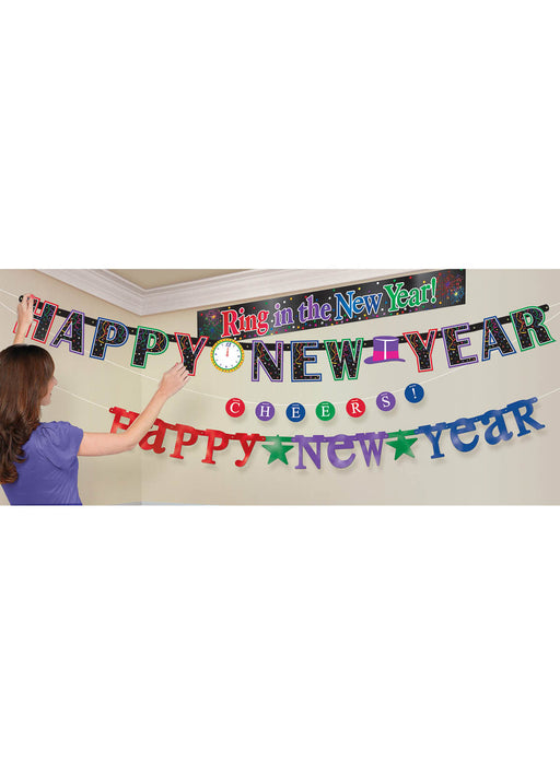 Happy New Year Banner Kit