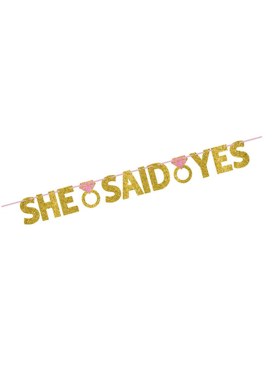 She Said Yes Letter Banner