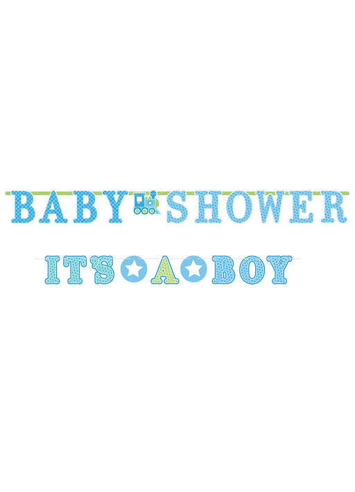 Welcome Baby Boy Letter Banner
