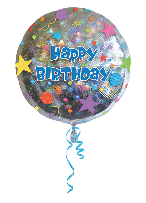 "Happy Birthday Confetti 18"" Foil Balloon"