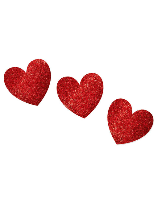Red Heart Glitter Cutouts 20pk
