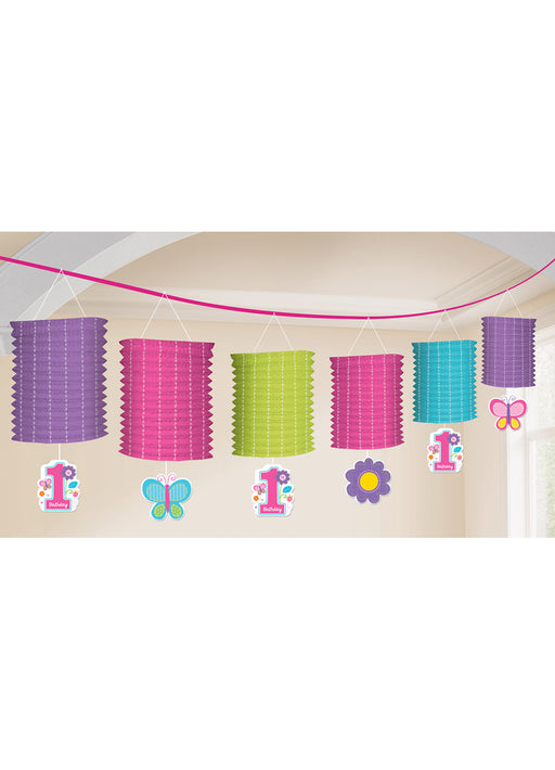Sweet Girl 1st Birthday Paper Lantern Garland