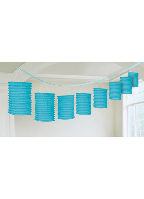 Light Blue Paper Lantern Garland