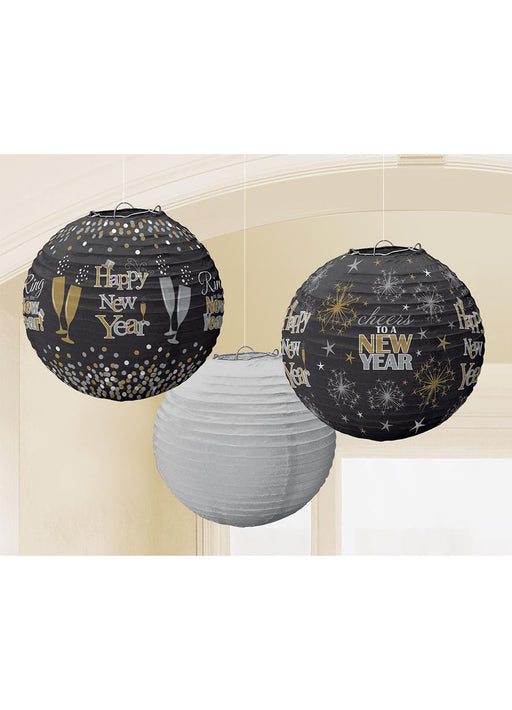 New Years Paper Lanterns 3pk