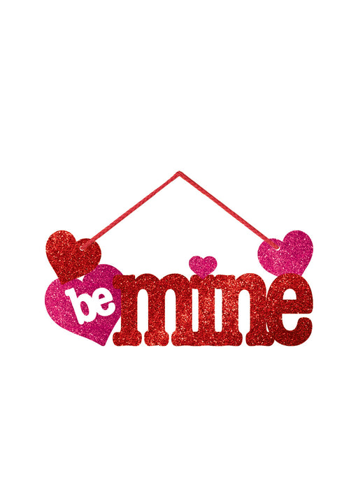Be Mine Glitter Decoration Sign