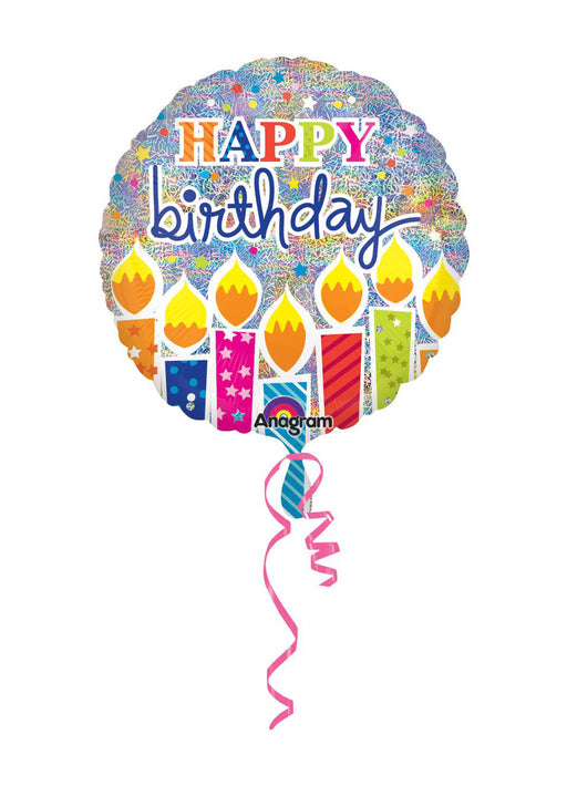 Happy Birthday Candles Foil Balloon