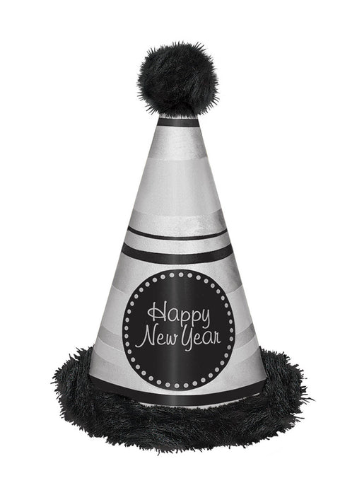 Giant Silver Happy New Year Hat