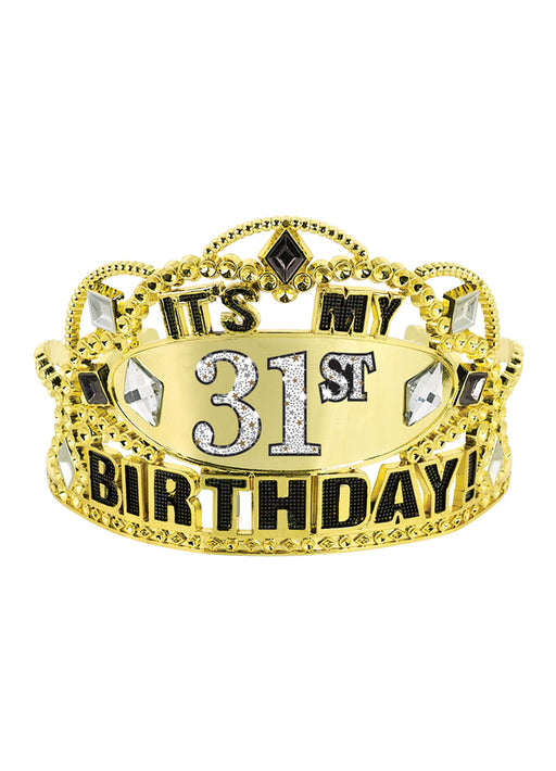 Gold Add-Any-Age Birthday Tiara