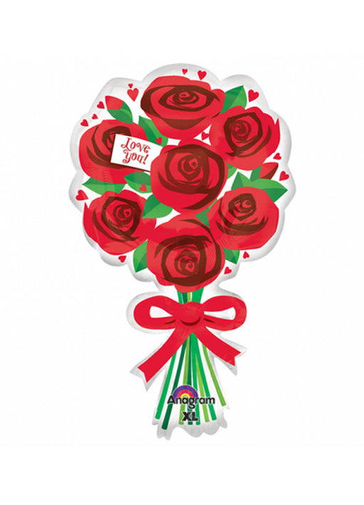 Red Roses Bouquet Supershape Balloon