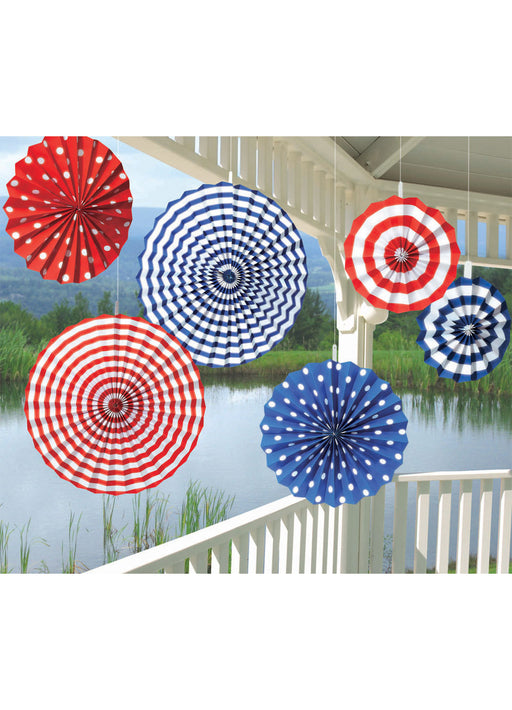 American Paper Fan Decorations