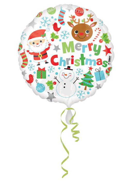 Colourful Christmas Standard Foil Balloon