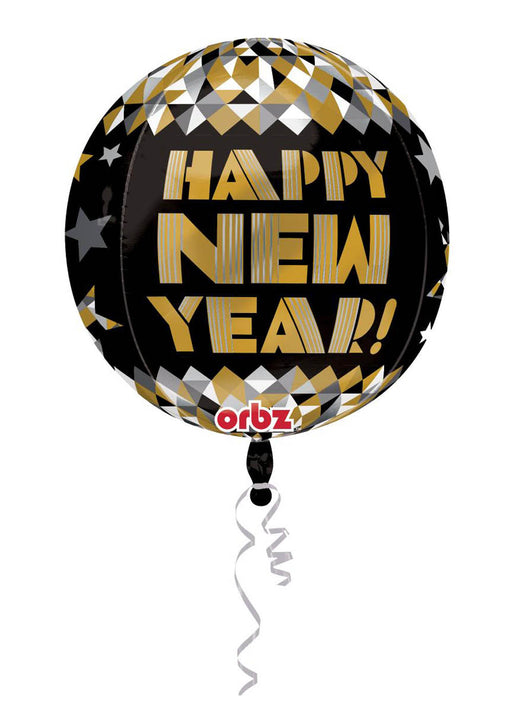 Happy New Year Orbz Foil Balloon