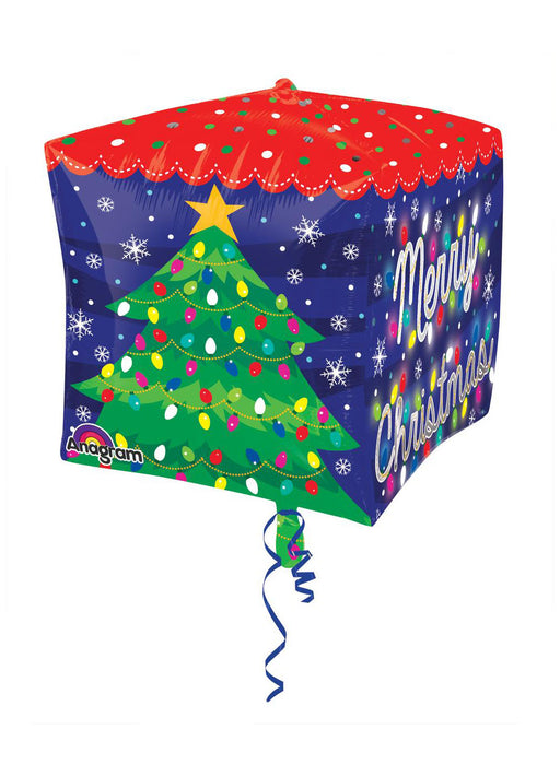 Merry Christmas Cubez Foil Balloon