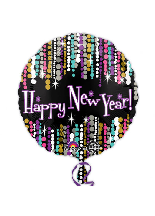 Happy New Year Pizzazz Foil Balloon