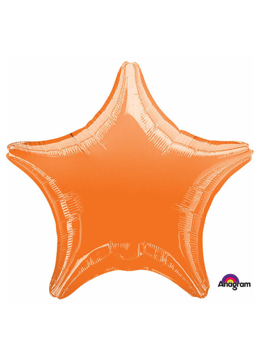 Orange Star Foil Balloon