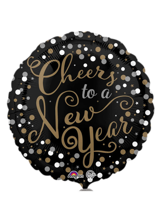 Confetti Celebration New Year Foil Balloon