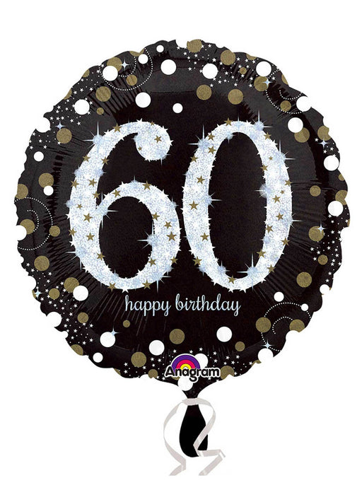 Gold Sparkle 60th Birthday Balloon