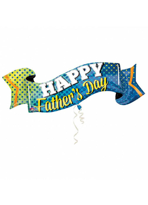 Father's Day Banner SuperShape Foil Balloon