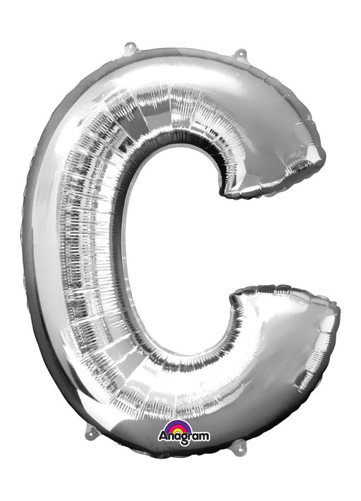 Letter C Silver Supershape Balloon