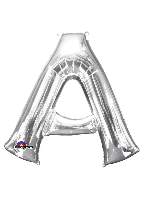 Letter A Silver Air Filled Balloon