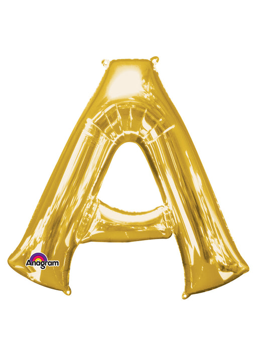 Letter A Gold Air Filled Balloon