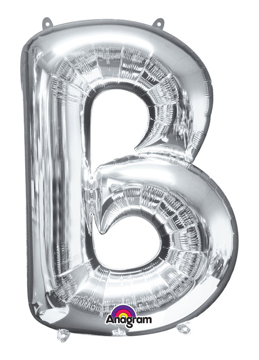 Letter B Silver Air Filled Balloon