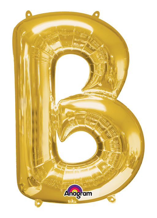 Letter B Gold Air Filled Balloon