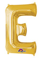 Letter E Gold Air Filled Balloon