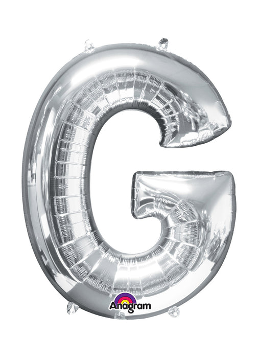 Letter G Silver Air Filled Balloon