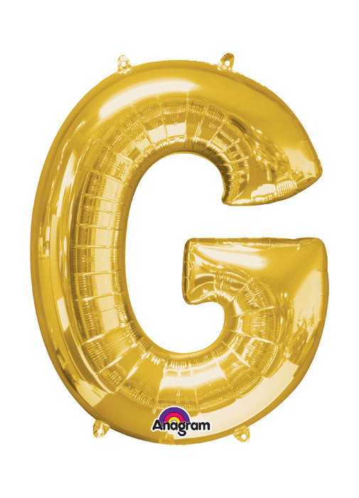 Letter G Gold Air Filled Balloon