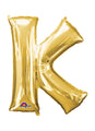 Letter K Gold Air Filled Balloon