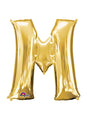 Letter M Gold Air Filled Balloon