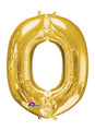 Letter O Gold Air Filled Balloon