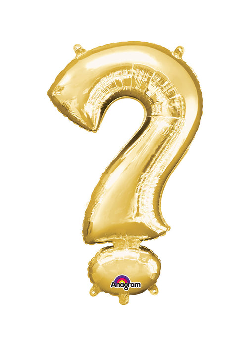 Question Mark Gold Air Filled Balloon