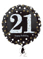 Gold Sparkle 21st Birthday Balloon